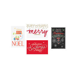 American Greetings Christmas Cards Deluxe - Lettering - Assorted - 14 count