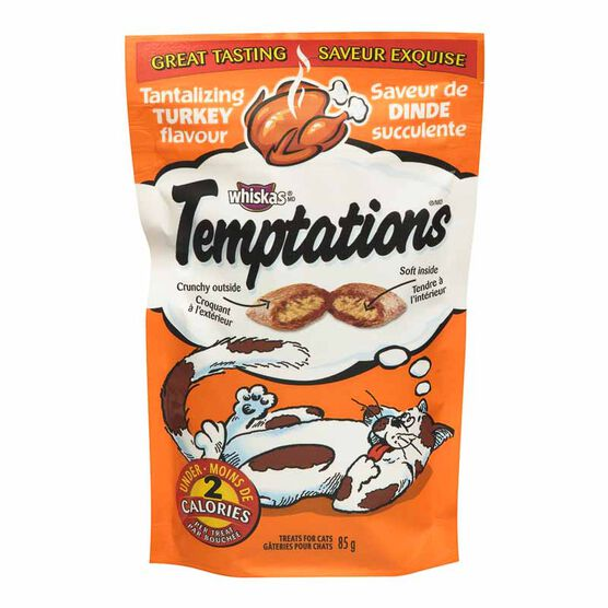 Whiskas Temptations Treats for Cats - Tantalizing Turkey - 85g