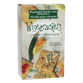Wisecrackers Crackers - Roasted Garlic with Rosemary - 114g
