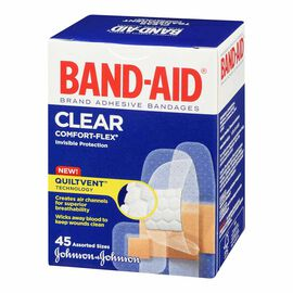Johnson & Johnson Band-Aid Clear Comfort-Flex - Assorted - 45's