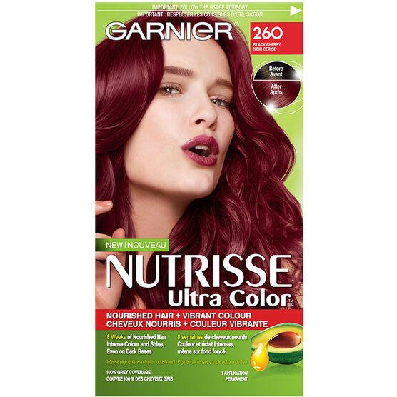 Garnier Nutrisse Ultra Color Permanent Hair Colour - 260 Black ...