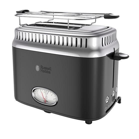Russell Hobbs Retro Toaster 2 Slice - Black - TR9150BKRC
