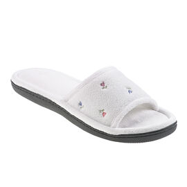 Isotoner Microterry Floral Clog Slipper