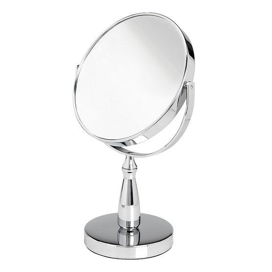 London Premiere Chrome Vanity Stand Mirror - 17cm