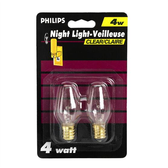 Philips Clear Night Light - 4 watts - 2 pack