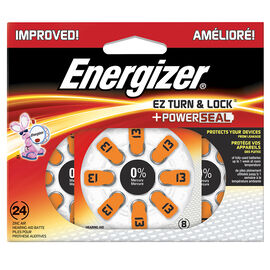 Energizer EZ Turn and Lock Size 13 Hearing Aid Batteries - 24 Pack - AZ13DP-24