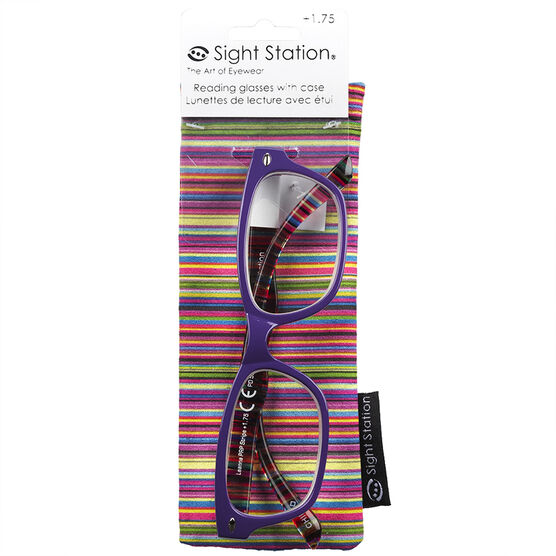Foster Grant Sight Station Leanna Reading Glasses with Case - 1.75