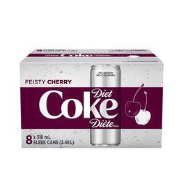 Diet Coke - Feisty Cherry - 8 x 310ml