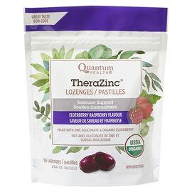 Quantum Health TheraZinc Lozenges - Elderberry Raspberry - 18's
