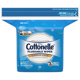 Cottonelle FreshCare Flushable Wipes - Ripple Clean - 168's