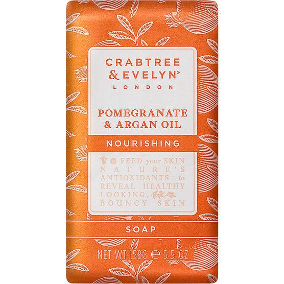 Crabtree & Evelyn Pomegranate & Argan Oil Nourishing Soap - 158g