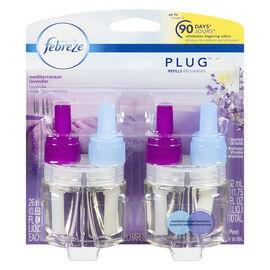 Febreze Plug Dual Scented Oil Refill - Mediterranean Lavender - 2 refills - 52ml