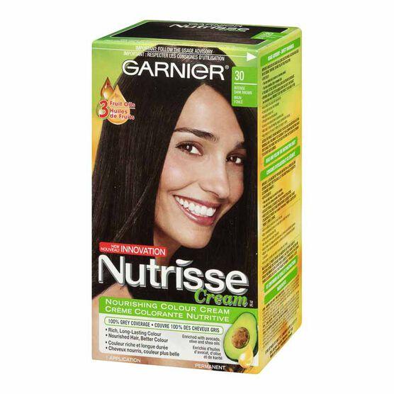 Garnier Nutrisse Cream Permanent Hair Colour - 30 Intense Dark Brown