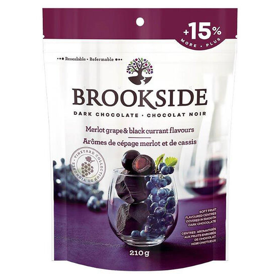 Brookside Dark Chocolate - Merlot Grape & Black Currant - 210g