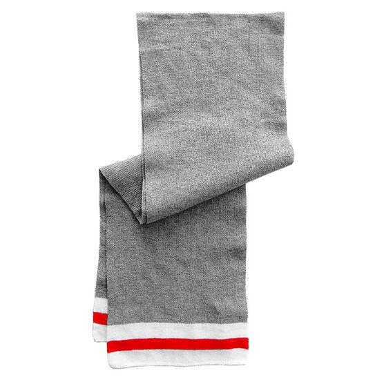 Point Zero Men's Scarf - Grey/White/Red