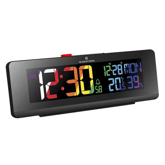 Marathon Colour Change Clock - Black - CL030063BK
