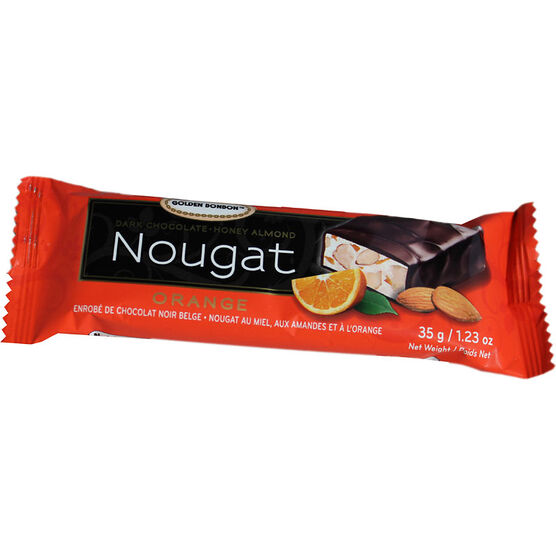 Golden Bonbon Orange Nougat - Chocolate Coated - 35g