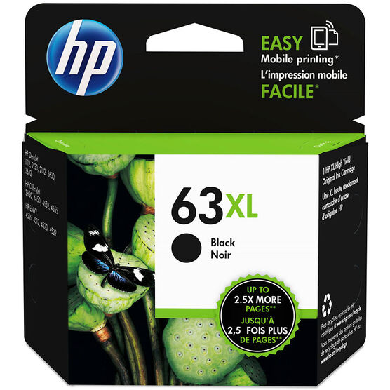 HP 63XL Ink Cartridge - Black - F6U64AN#140