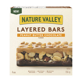 Nature Valley Layered Granola Nut Bars - Peanut Butter Chocolate - 156g