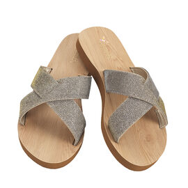 Chinese Laundry Cross Strap Slide Sandal - Gold