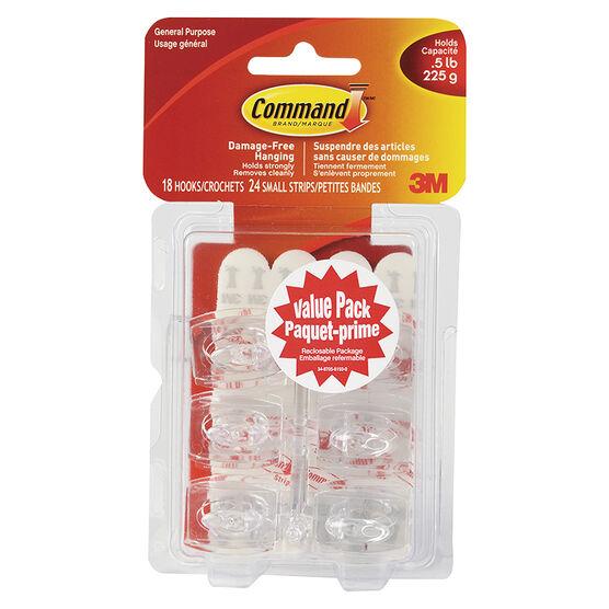 Command™ Mini Hooks Value Pack - White - 24's
