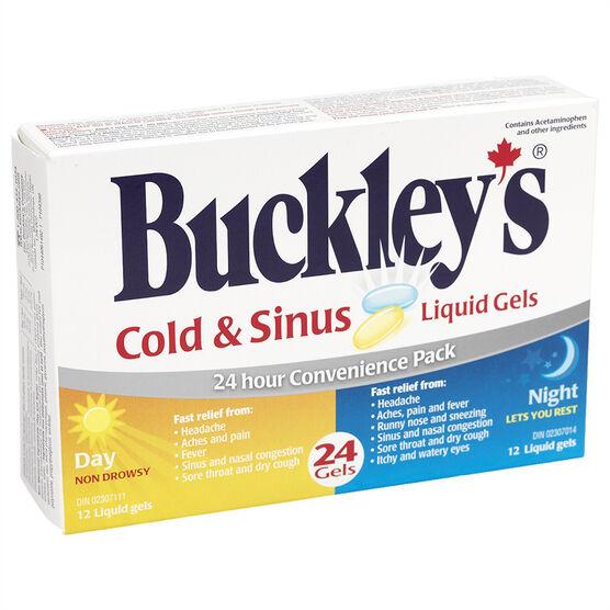 Buckley's Cold & Sinus Liquid Gels - 24's
