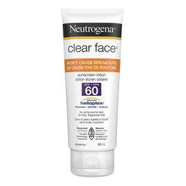 Neutrogena Clear Face Lotion - SPF 60 - 88ml