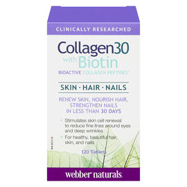Webber Naturals Collagen30 with Biotin Peptides - 120's