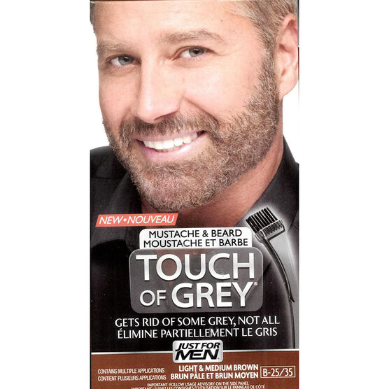 Just For Men Touch of Grey Mustache and Beard Facial Hair ...
