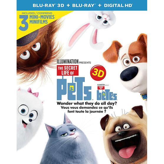 The Secret Life of Pets - 3D Blu-ray