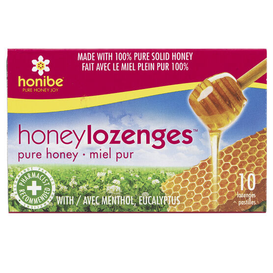 Honibe Honey Lozenges - Menthol & Eucalyptus - 10's