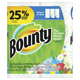 Bounty Paper Towels Select-A-Size - Spring Print - 2 rolls