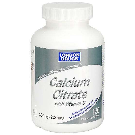 London Drugs Calcium Citrate with Vitamin D - 300mg/200iu - 120's