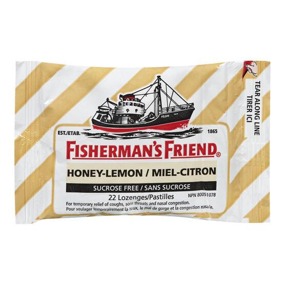 Fisherman's Friend Sucrose Free Lozenge - Honey Lemon - 22's