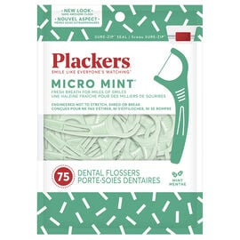 Plackers Flossers - Micro Mint - 75's