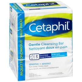 Cetaphil Gentle Cleansing Bar - Sensitive - 3 x 127g
