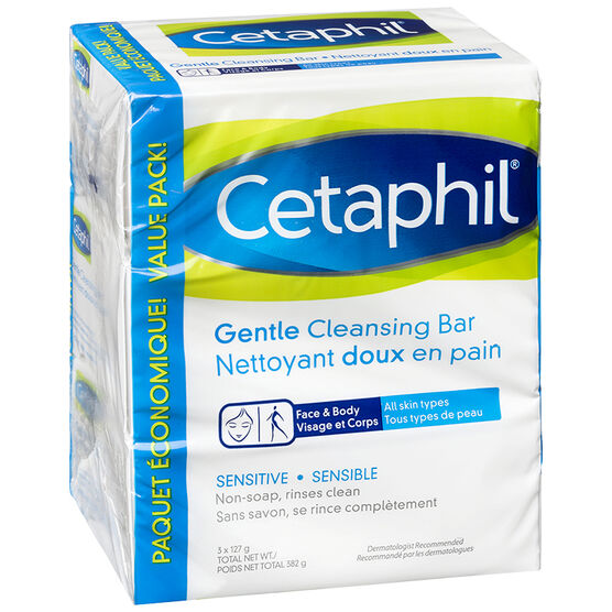 Cetaphil Gentle Cleansing Bar - Sensitive - 3 x 127g
