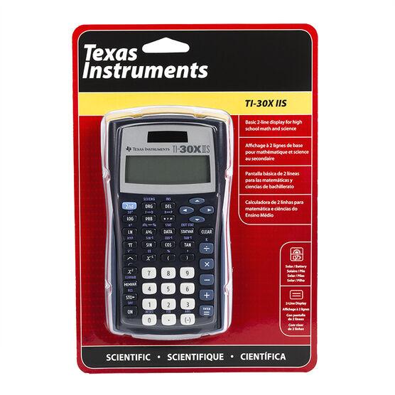 T.I. 2 Line Scientific Calculator - Black - TI30XIIS