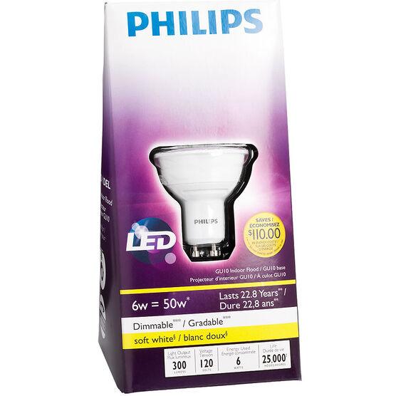 Philips GU10 LED Dimmable Light Bulb - Soft White - 6 Watts