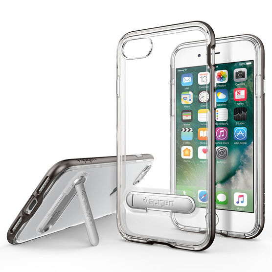 Spigen Crystal Hybrid for iPhone 7 - Gunmetal - SGP042CS20459