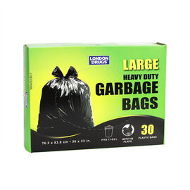 London Drugs Heavy Duty Garbage Bags - Black - 30's