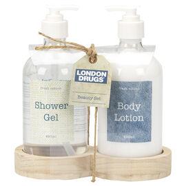 Vintage Denim Body Care Set - Fresh Cotton - 2 piece