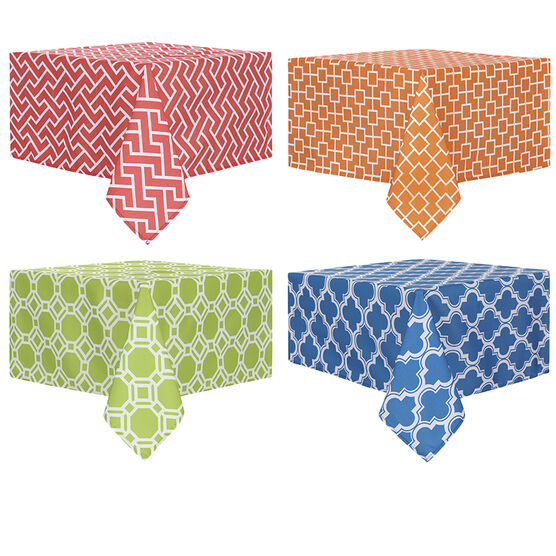 """Boutique Geo Fabric Tablecloth - 52"""" x 70"""" - Assorted"""