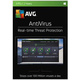 AVG AntiVirus - 3 PCs - 2 Years