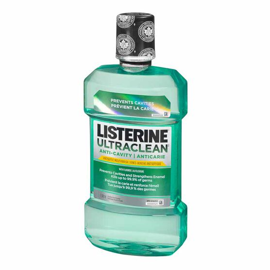 Listerine UltraClean Anti-Cavity Antiseptic Mouthwash - 1L