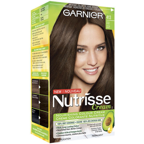 Garnier Nutrisse Cream Permanent Hair Colour 413 Bronze Brown
