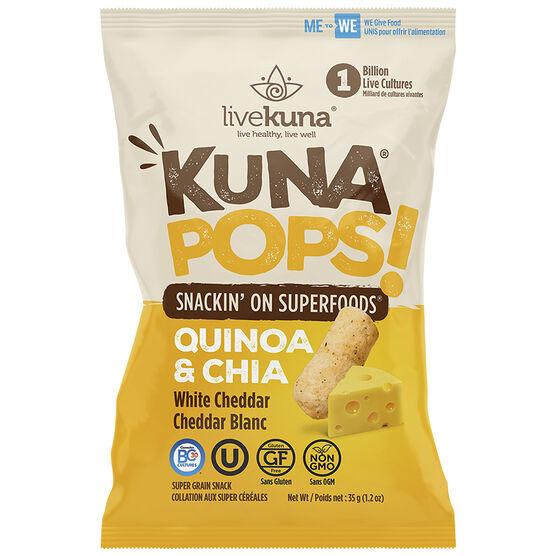 Kuna Pops Quinoa & Chia - White Cheddar - 35g