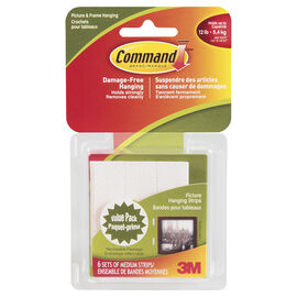 Command™ Medium Picture Hanging Strips - 6 sets