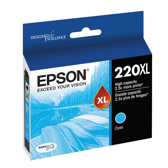 Epson 220XL Ink Cartridge - Cyan - T220XL220-S