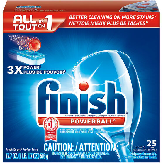 Finish Powerball 3 in 1 - Fresh - 25 Tablets